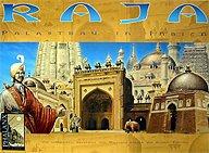 Brettspiele bei AEIOU.DE - Abbildung: Frontcover der Spielbox von Raja