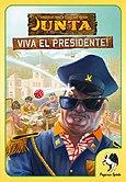 Brettspiele bei AEIOU.DE - Abbildung: Frontcover der Spielbox von Junta - Viva el Presidente!