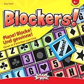 Rezensionen bei AEIOU.DE - Abbildung: Frontcover der Spielbox von Blockers!