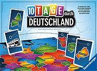 Brettspiele bei AEIOU.DE - Abbildung: Frontcover der Spielbox von 10 Tage durch Deutschland