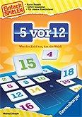 Brettspiele bei AEIOU.DE - Abbildung: Frontcover der Spielbox von 5 vor 12