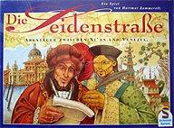 Brettspiele bei AEIOU.DE - Abbildung: Frontcover der Spielbox von Die Seidenstraße
