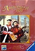 Brettspiele bei AEIOU.DE - Abbildung: Frontcover der Spielbox von Augsburg 1520