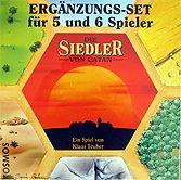 Brettspiele bei AEIOU.DE - Abbildung: Frontcover der Spielbox von Die Siedler von Catan (5 & 6 Spieler)