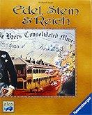 Brettspiele bei AEIOU.DE - Abbildung: Frontcover der Spielbox von Edel, Stein & Reich
