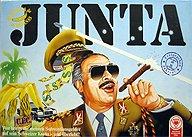 Brettspiele bei AEIOU.DE - Abbildung: Frontcover der Spielbox von Junta