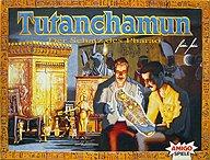 Brettspiele bei AEIOU.DE - Abbildung: Frontcover der Spielbox von Tutanchamun