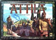 Brettspiele bei AEIOU.DE - Abbildung: Frontcover der Spielbox von Attila