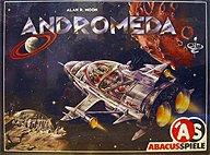 Brettspiele bei AEIOU.DE - Abbildung: Frontcover der Spielbox von Andromeda