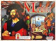 Brettspiele bei AEIOU.DE - Abbildung: Frontcover der Spielbox von Medici