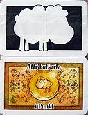 Brettspiele bei AEIOU.DE - Abbildung: Frontcover der Spielbox von Attribut-Blankokarten