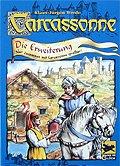 Rezensionen bei AEIOU.DE - Abbildung: Frontcover der Spielbox von Carcassonne - Die Erweiterung
