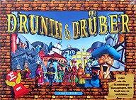 Brettspiele bei AEIOU.DE - Abbildung: Frontcover der Spielbox von drunter & drüber
