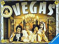 Brettspiele bei AEIOU.DE - Abbildung: Frontcover der Spielbox von Vegas