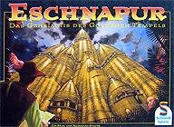 Brettspiele bei AEIOU.DE - Abbildung: Frontcover der Spielbox von Eschnapur