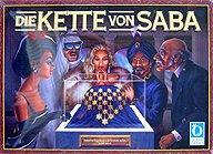Brettspiele bei AEIOU.DE - Abbildung: Frontcover der Spielbox von Die Kette von Saba