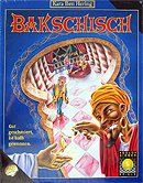 Brettspiele bei AEIOU.DE - Abbildung: Frontcover der Spielbox von Bakschisch