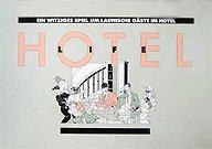 Brettspiele bei AEIOU.DE - Abbildung: Frontcover der Spielbox von Hotellife