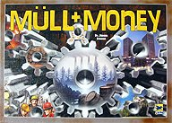 Brettspiele bei AEIOU.DE - Abbildung: Frontcover der Spielbox von Müll + Money