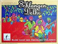 Brettspiele bei AEIOU.DE - Abbildung: Frontcover der Spielbox von Die Schlangen von Delhi