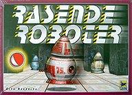Brettspiele bei AEIOU.DE - Abbildung: Frontcover der Spielbox von Rasende Roboter
