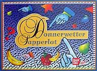 Brettspiele bei AEIOU.DE - Abbildung: Frontcover der Spielbox von Donnerwetter Sapperlot
