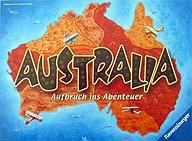 Brettspiele bei AEIOU.DE - Abbildung: Frontcover der Spielbox von Australia