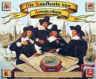 Brettspiele bei AEIOU.DE - Abbildung: Frontcover der Spielbox von Die Kaufleute von Amsterdam