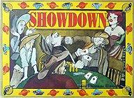 Brettspiele bei AEIOU.DE - Abbildung: Frontcover der Spielbox von Showdown