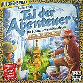Brettspiele bei AEIOU.DE - Abbildung: Frontcover der Spielbox von Tal der Abenteuer