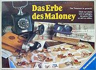 Brettspiele bei AEIOU.DE - Abbildung: Frontcover der Spielbox von Das Erbe des Maloney