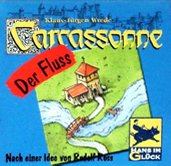 Rezensionen bei AEIOU.DE - Abbildung: Frontcover der Spielbox von Carcassonne - Der Fluss