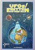 Brettspiele bei AEIOU.DE - Abbildung: Frontcover der Spielbox von UFOs! Fritten aus dem All