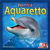 Rezensionen bei AEIOU.DE - Abbildung: Frontcover der Spielbox von Aquaretto