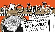 Brettspiele bei AEIOU.DE - Abbildung: Frontcover der Spielbox von Anno Domini - Schweiz
