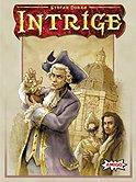 Brettspiele bei AEIOU.DE - Abbildung: Frontcover der Spielbox von Intrige