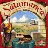 Brettspiele bei AEIOU.DE - Abbildung: Frontcover der Spielbox von Salamanca