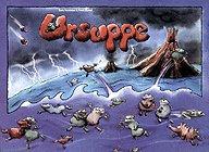 Brettspiele bei AEIOU.DE - Abbildung: Frontcover der Spielbox von Ursuppe