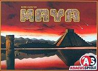 Brettspiele bei AEIOU.DE - Abbildung: Frontcover der Spielbox von Maya