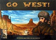 Brettspiele bei AEIOU.DE - Abbildung: Frontcover der Spielbox von Go West!
