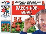 Rezensionen bei AEIOU.DE - Abbildung: Frontcover der Spielbox von Bären-Hör-Memo