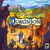 Brettspiele bei AEIOU.DE - Abbildung: Frontcover der Spielbox von Dominion - Was für eine Welt!