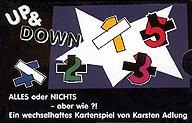 Brettspiele bei AEIOU.DE - Abbildung: Frontcover der Spielbox von Up & Down