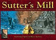 Brettspiele bei AEIOU.DE - Abbildung: Frontcover der Spielbox von Sutter's Mill