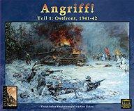Brettspiele bei AEIOU.DE - Abbildung: Frontcover der Spielbox von Angriff!