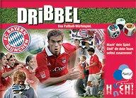 Brettspiele bei AEIOU.DE - Abbildung: Frontcover der Spielbox von Dribbel - FC Bayern München