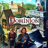 Brettspiele bei AEIOU.DE - Abbildung: Frontcover der Spielbox von Dominion - Die Intrige!