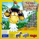 Brettspiele bei AEIOU.DE - Abbildung: Frontcover der Spielbox von Auf die Schätze, fertig, los!