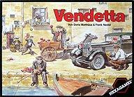 Brettspiele bei AEIOU.DE - Abbildung: Frontcover der Spielbox von Vendetta