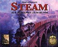 Brettspiele bei AEIOU.DE - Abbildung: Frontcover der Spielbox von Steam